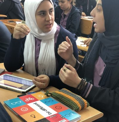 students discussing