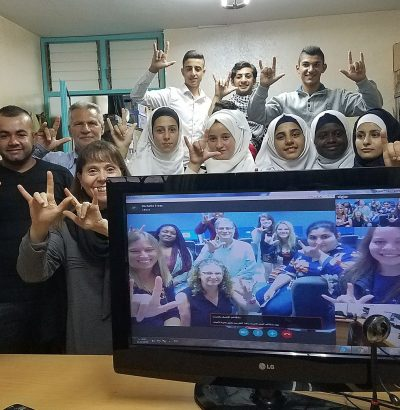student team posing